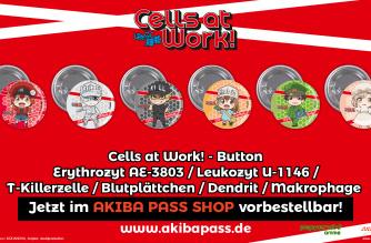 Cells at Work! – Buttons – Jetzt vorbestellbar!