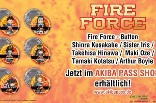 Fire Force – Buttons – Jetzt erhältlich!