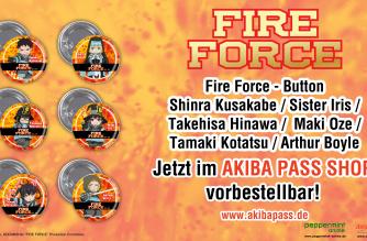Fire Force – Buttons – Jetzt vorbestellbar!